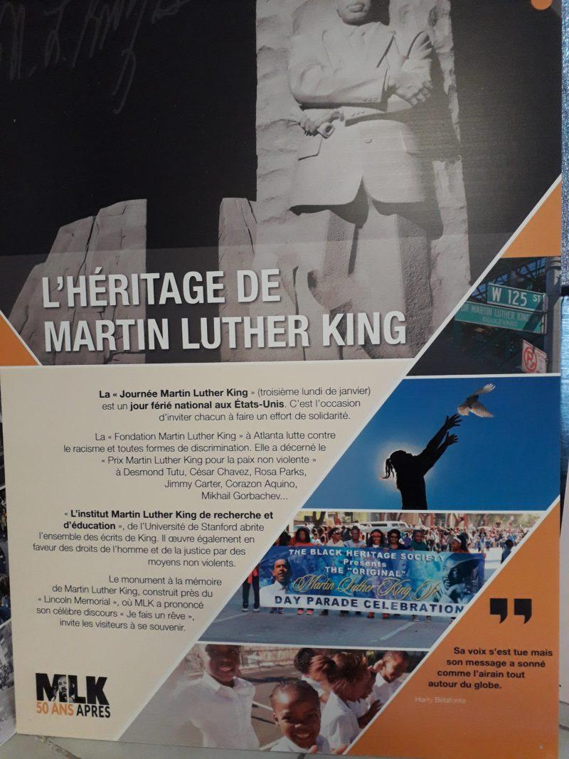 Visite exposition Martin Lutter King